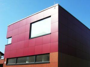 отделка фасада здания панелями