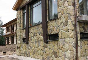 отделка здания камнем
