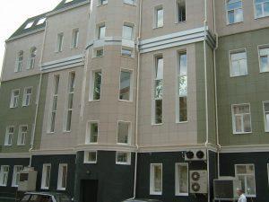 отделка зданий керамогранитом