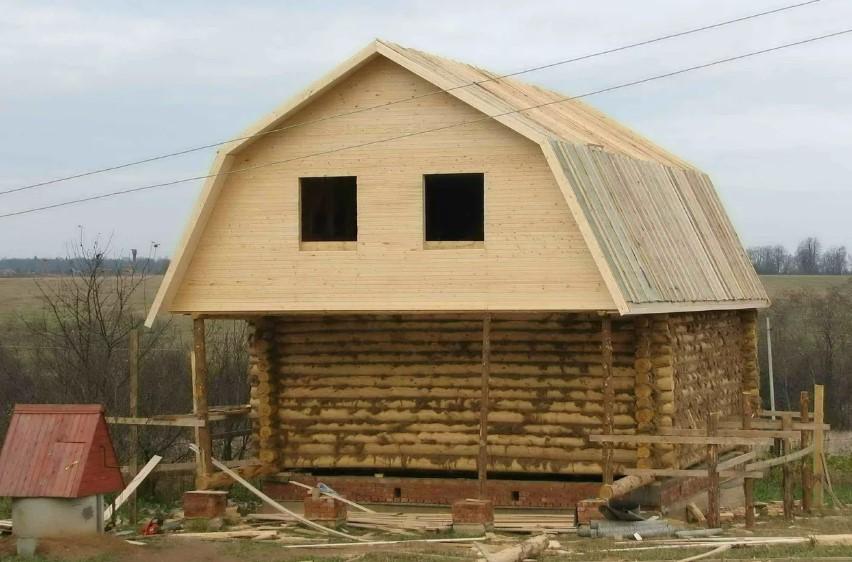 двускатная крыша ломаная