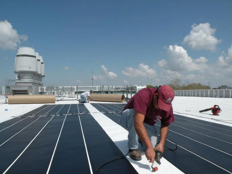 ремонт крыши из ПВХ-мембраны